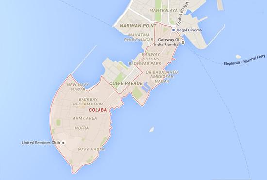 Colaba, Mumbai map