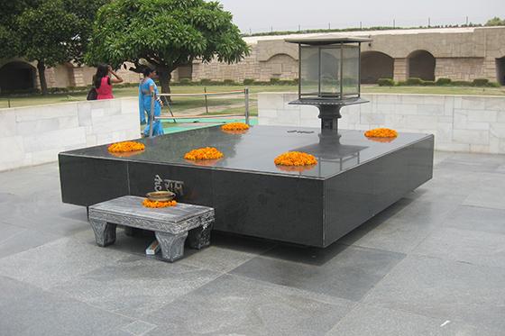 Gandhi's Samadhi in Rajghat Delhi