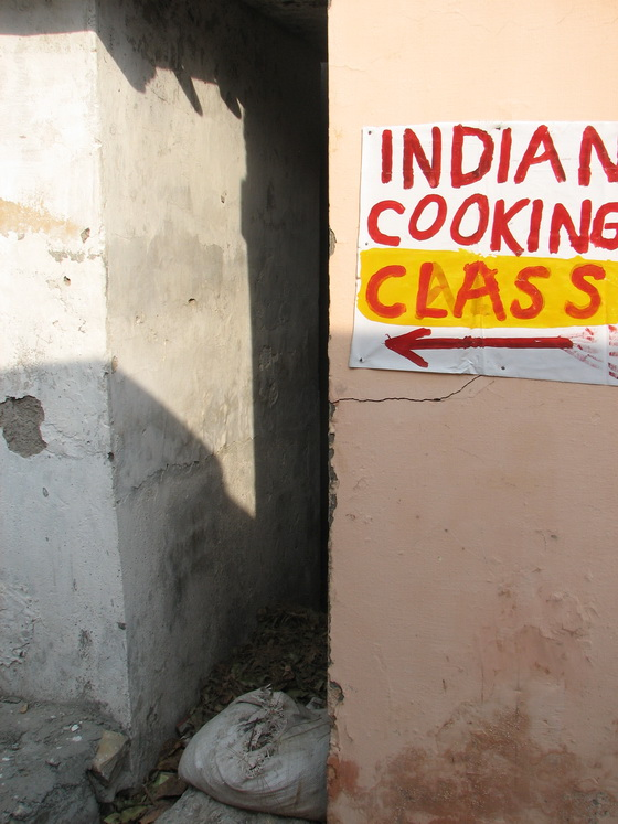 Cooking class ahead