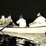 Osho in boat