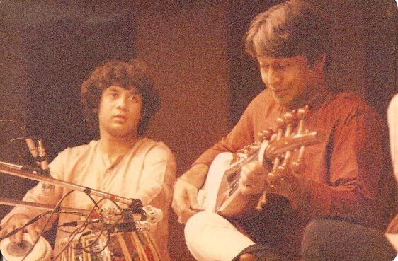 Ustad Amjad Ali Khan and Zakir Hussain