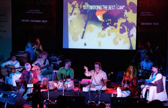 With Green Ragas performing at the Commonwealth Games and the British Council, New Delhi