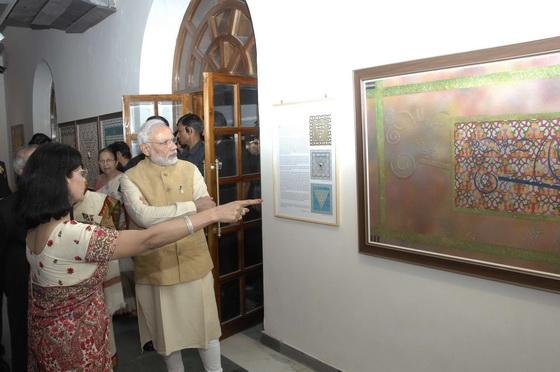 Pratiksha and Narendra Modi