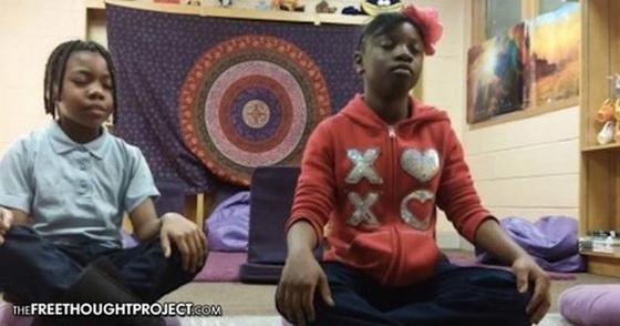 children-meditate