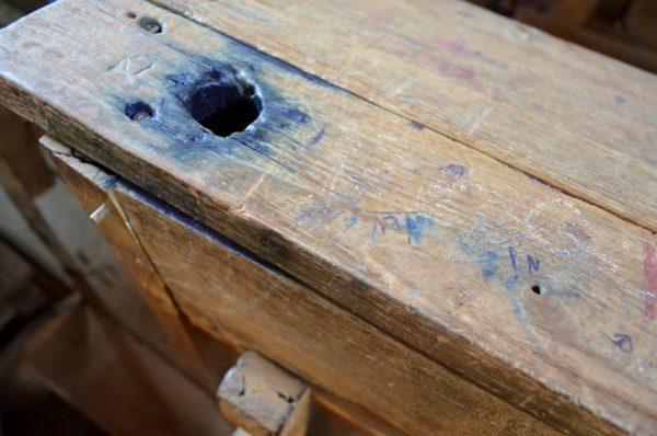 Osho's school desk, Gadarwada