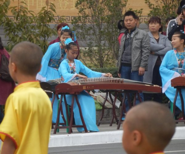 Musicians playing traditional Chinese instruments