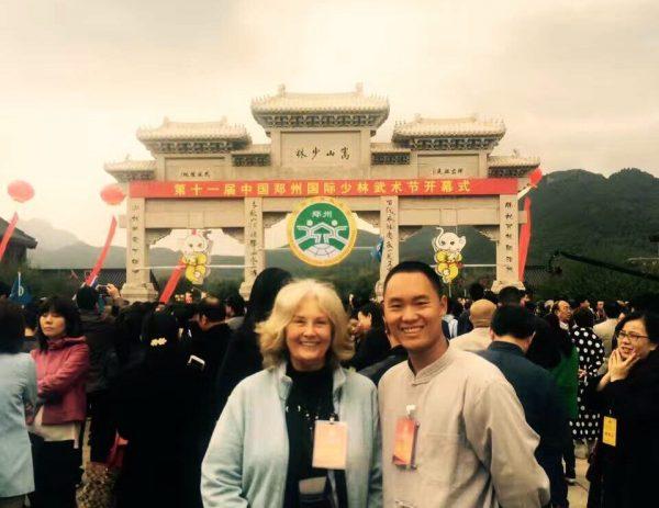 Veena at Shaolin temple with Chengeng