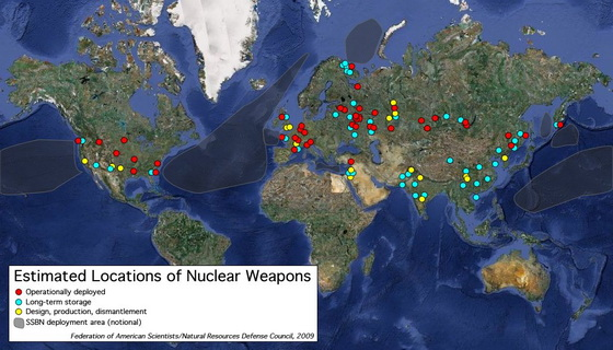 Global nuclear weapons storage