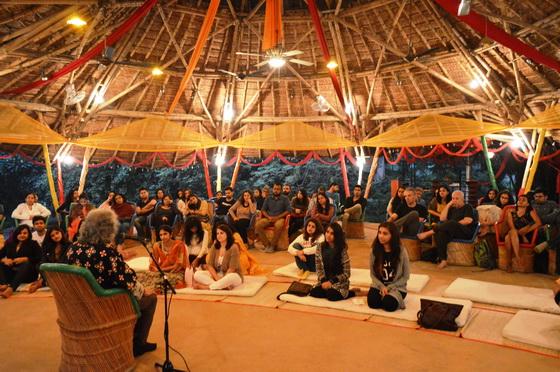 Bamboo auditorium of Zorba the Buddha