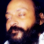 Osho eyes closed