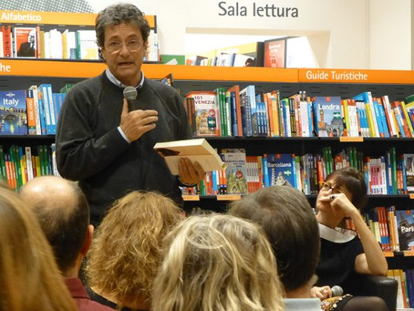 at a book reading