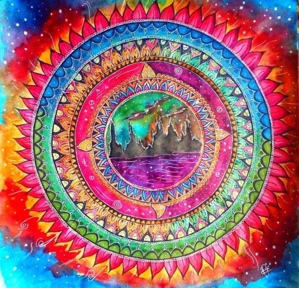 Burning Aurora Mandala