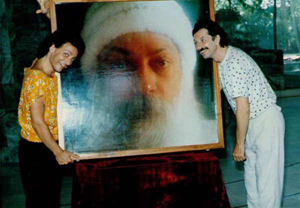 Two of Osho's photographers: Satyam and Muni