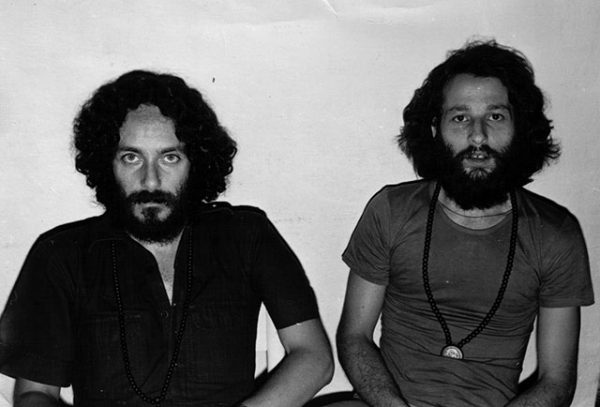 The two Satyams at Vivek Osho Meditation Centre in Milan, 1981
