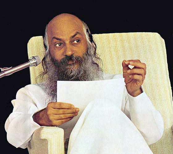 Osho giving a lecture