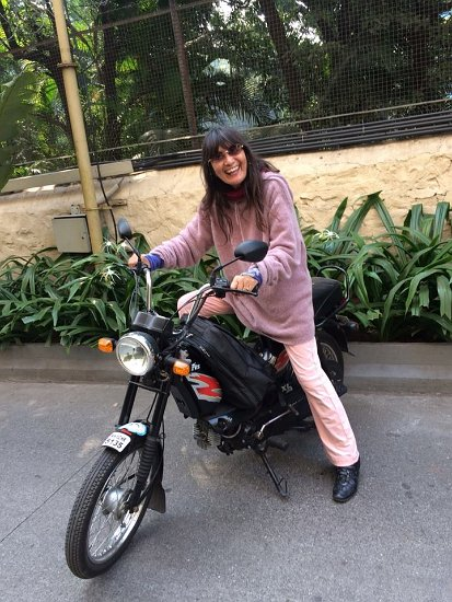 070 Meera on bike cr Elif Chandra Deva