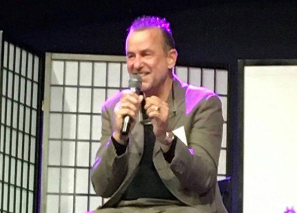 giving a talk, 2016