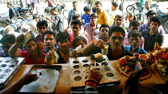 Bhang being served