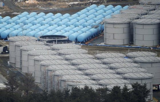 Fukushima storage tanks