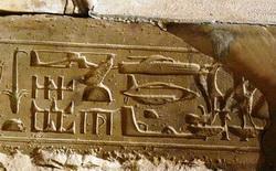 Hieroglyphs at Abydos