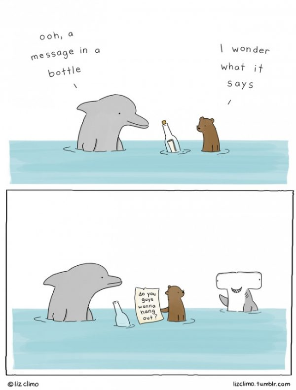 Message in a bottle by Liz Climo