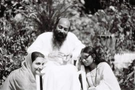 Osho with disciples