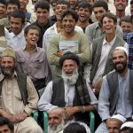 Afghan men laughing