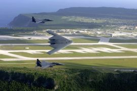 Airplanes over Guam