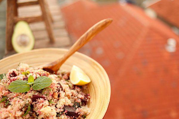 Quinoa roasted beetroot salad
