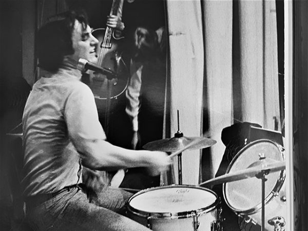 On the drumkit