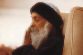 Osho closed eyes