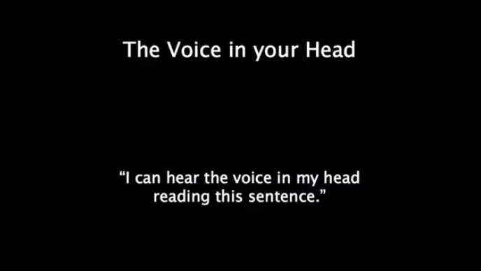 the voice in your head