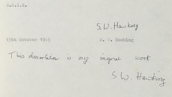 Dissertation Hawking