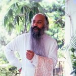 Osho on terrace with towel