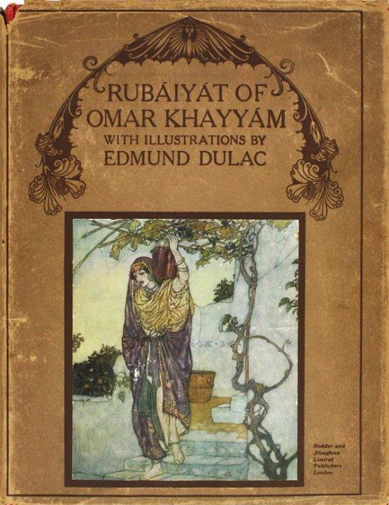 Rubaiyat book cover by Edmund Dulac