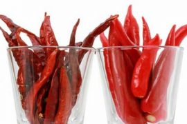 Dried and fresh chilli Feat