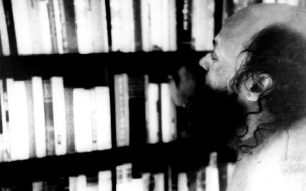 Osho with books
