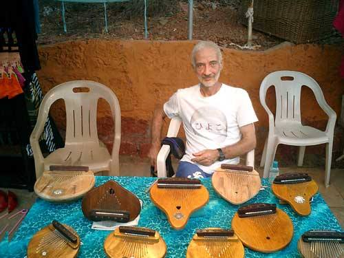 Parmanand with kalimbas