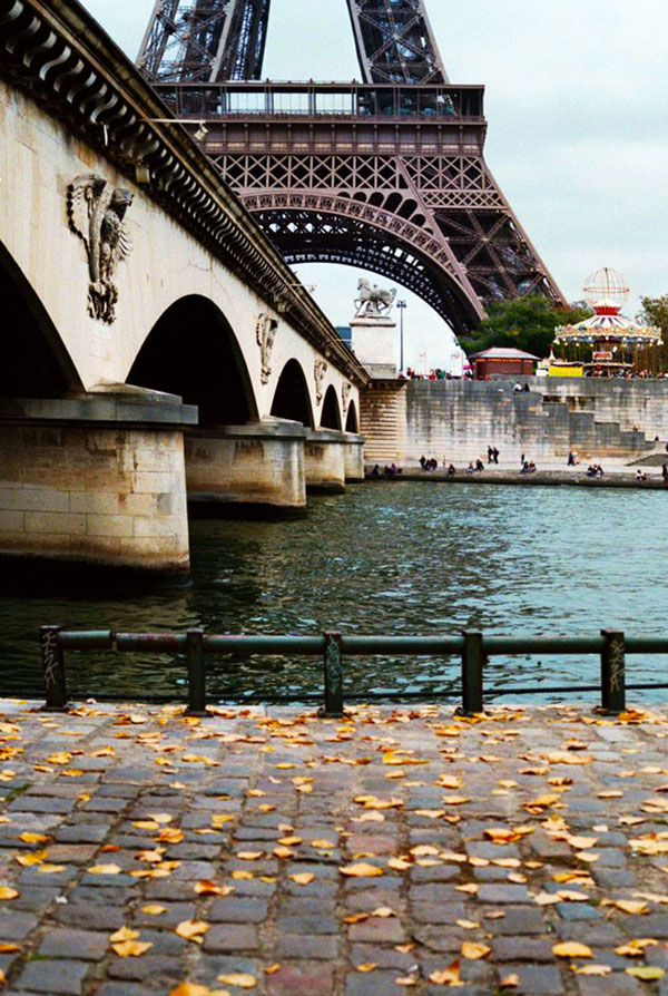 River Seine with Eiffel Tower - Pinterest