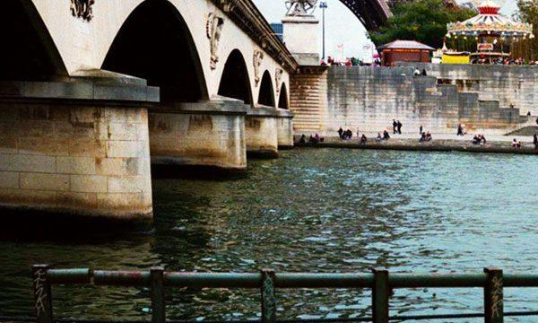 River Seine with Eiffel Tower - Pinterest