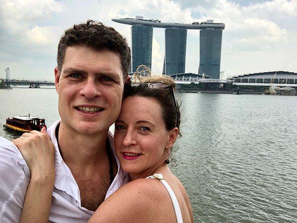 Swaram and Chetna in Singapore