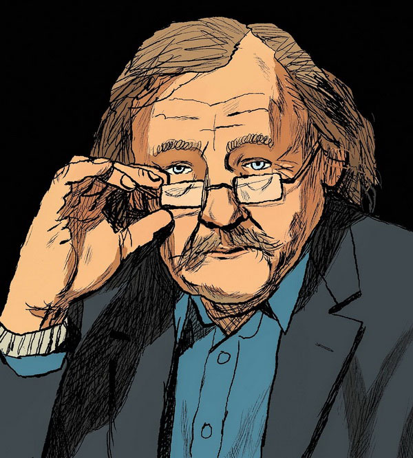 Peter Sloterdijk drawing