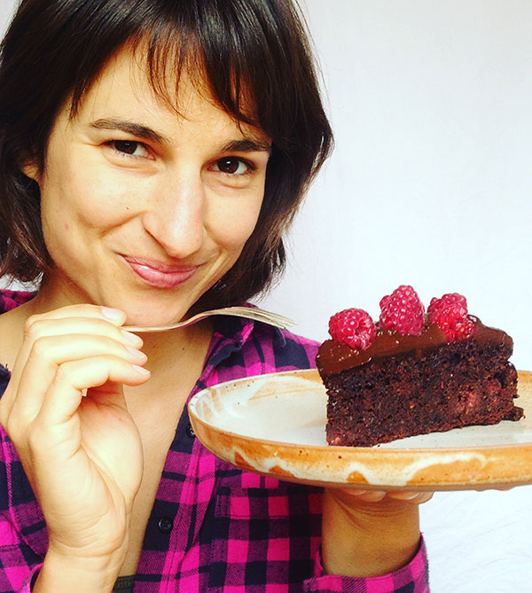 choc beet cake with avocado