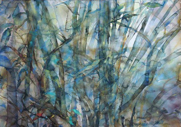 Morning at the Bamboos, 76 x 56 cm, Watercolour
