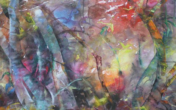 Wind in Pune, 105 x 70 cm, Watercolour