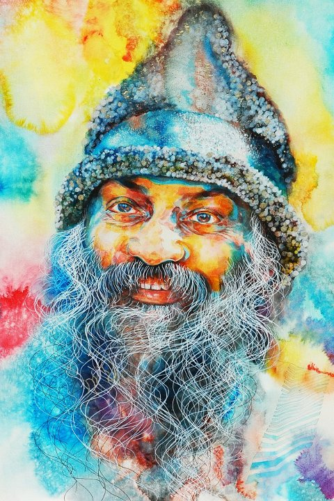 080 Portrait of Osho by Arhat 1