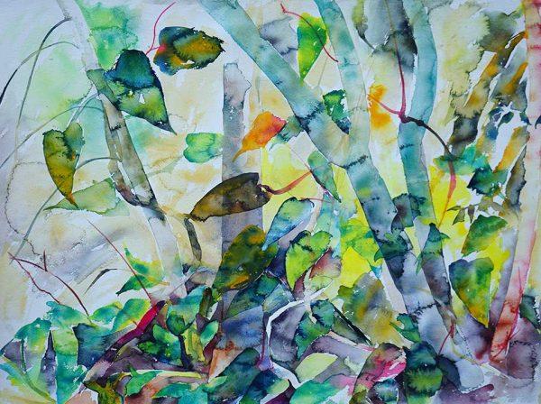 Zen Wind, 76 x 56 cm, Watercolour