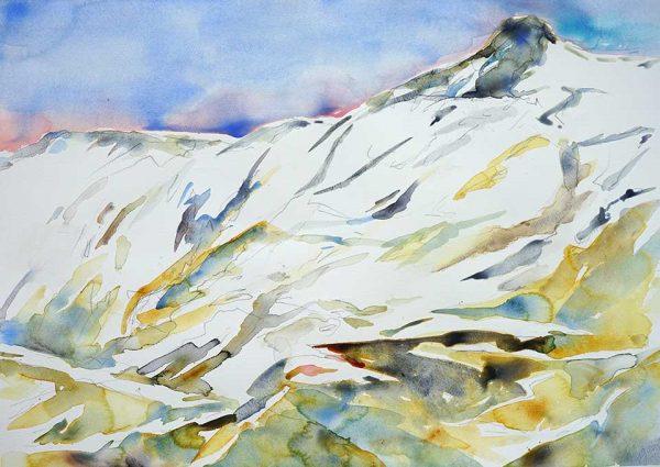 Lofoten in June, 76 x 56 cm, Watercolour