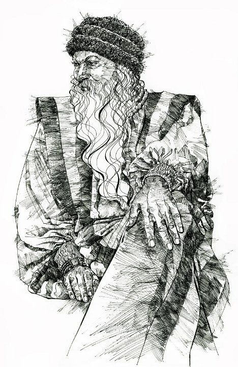 Drawing of Osho by Arhat 3