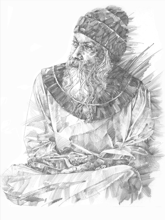 Drawing of Osho by Arhat 5